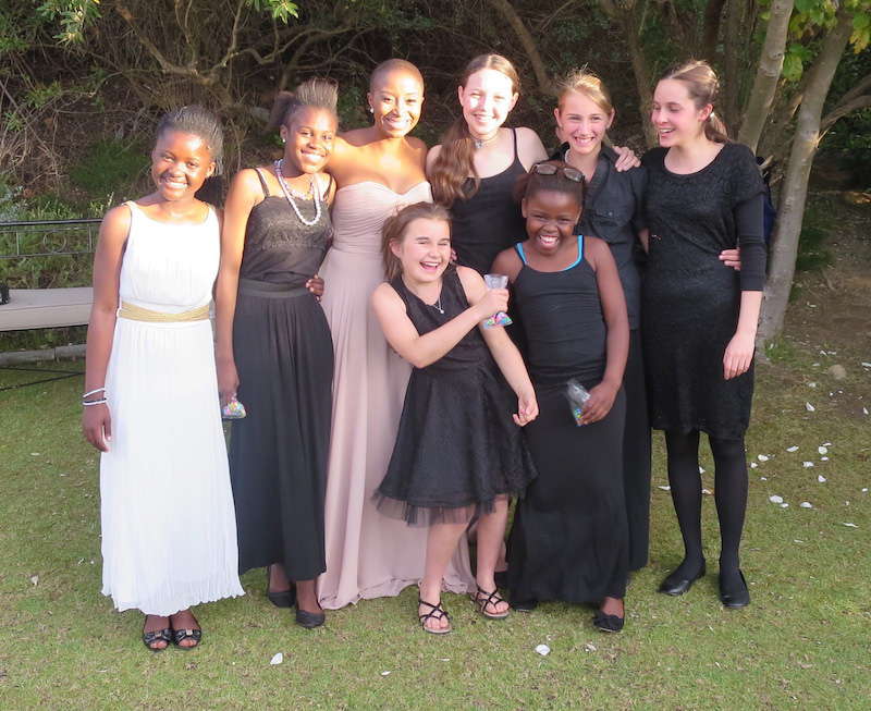Palm Strings outreach, Masiphumelele and private students play at a wedding together