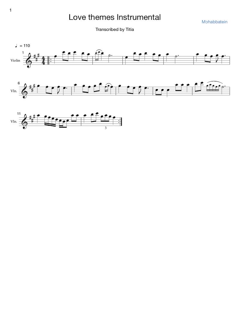Love Themes Instrumental sheet music thumbnail